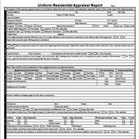 Appraisal Form 1004