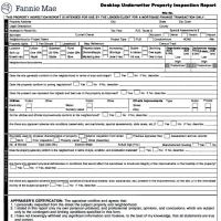 Desktop Underwriter Property Inspection Report Form 2075